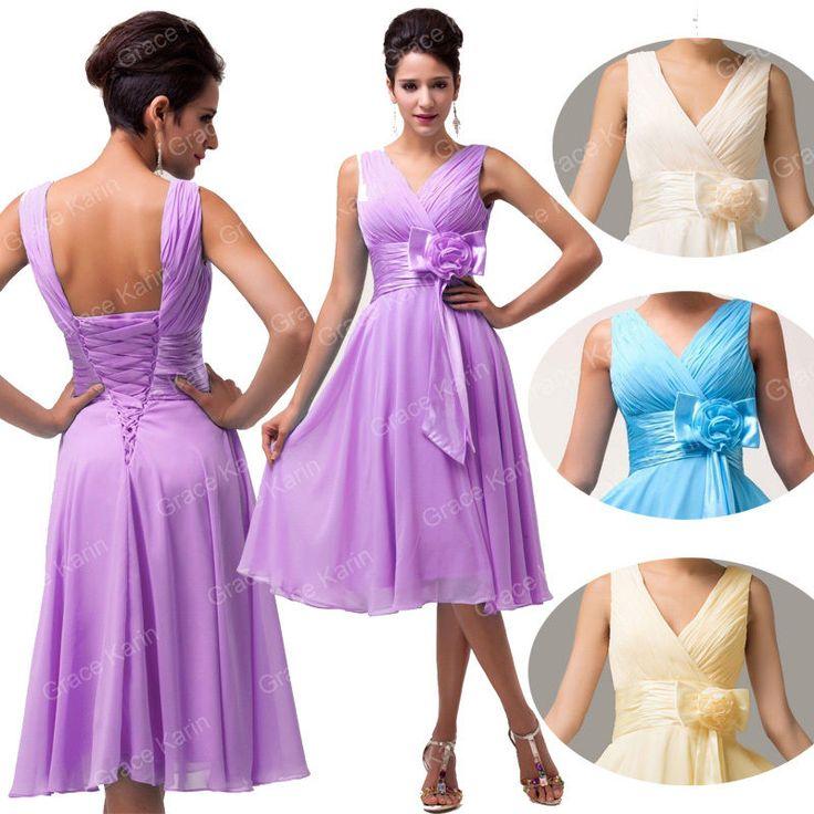 Women Sexy Summer Boho Evening Party V Neck Maxi Beachwear Dress Chiffon Dresses #GraceKarin #BallGown #Cocktail