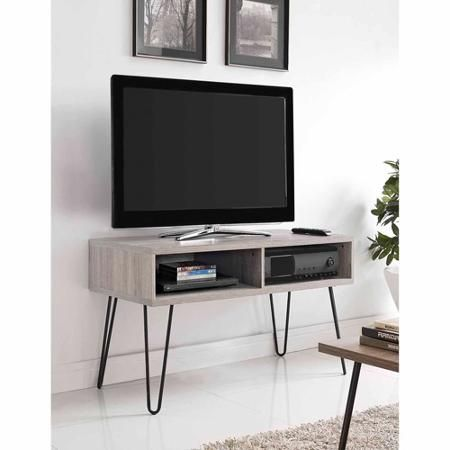 tv stand for tvs up to 42 wide distressed gray oak gray small tv stand