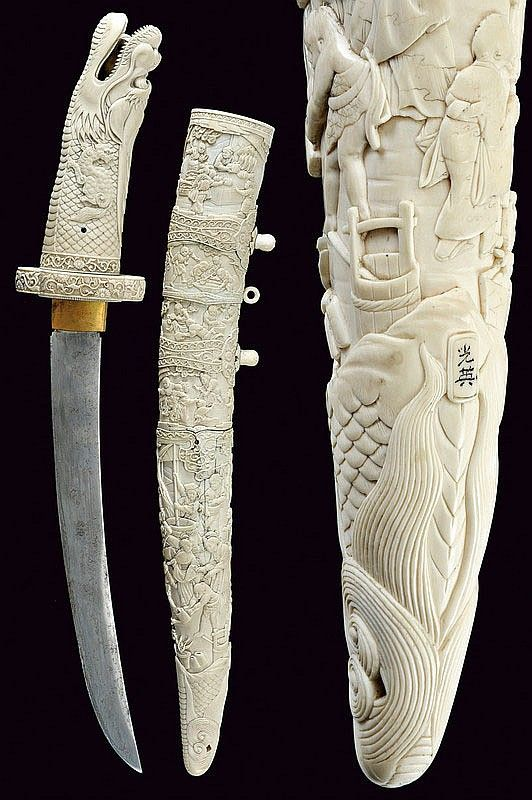 A beautiful decorated tanto   dating: 19th Century   provenance: Japan