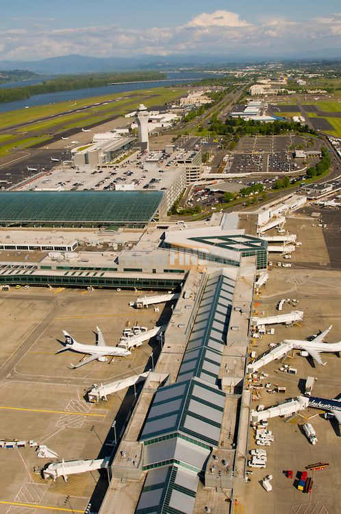 Aerial View Of Portland International Airport Pdx