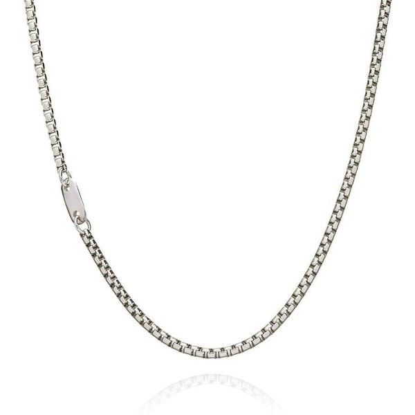 Sterling silver round box chain necklace ($189) ❤ liked on Polyvore featuring men's fashion, men's jewelry, men's necklaces, jewelry, mens sterling silver chain necklace, mens sterling silver necklace, mens box chain necklace and mens chain necklace