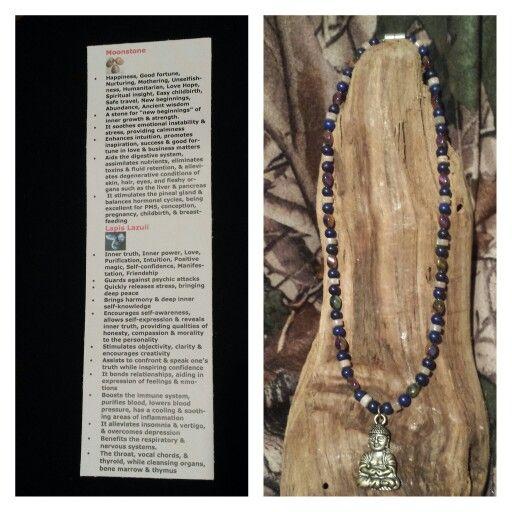 Moonstone, Lapis Lazuli,  & Rainbow Magnitite with Hematite