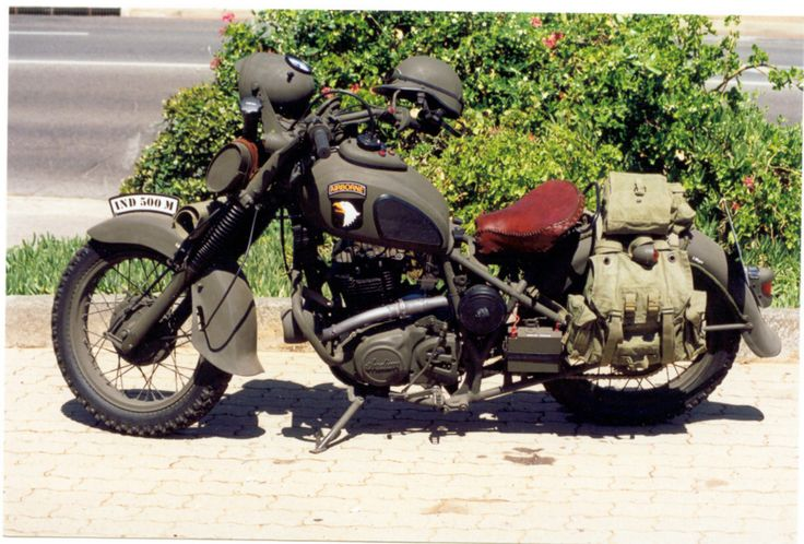 Susuki DR500, stage 3 modification, converted to loosely replicate a WW2 Indian dispatch riders bike...( currently undergoing another extensive mod. Watch this space....)