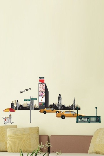 I Love New York Removable Wall Decal Set