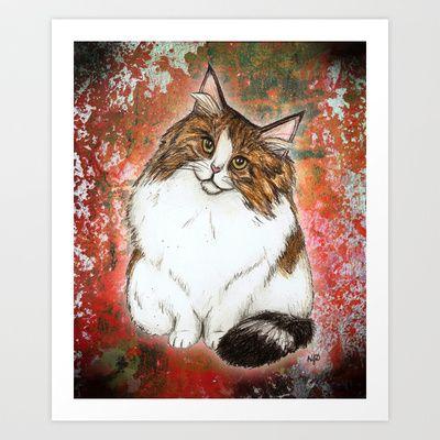 Norwegian Forest Cat #cat #illustration #art