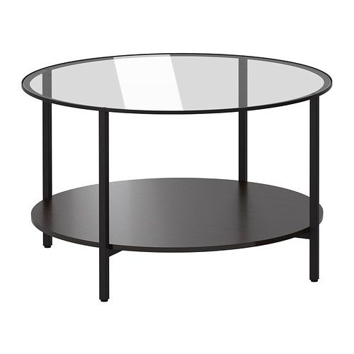 VITTSJÖ Coffee table IKEA Tempered glass and metal are hardwearing materials that give an open, airy feel.