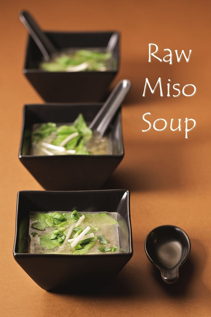Raw Miso Soup - a simple, nourishing, authentic recipe from Ani's Raw Food Asia