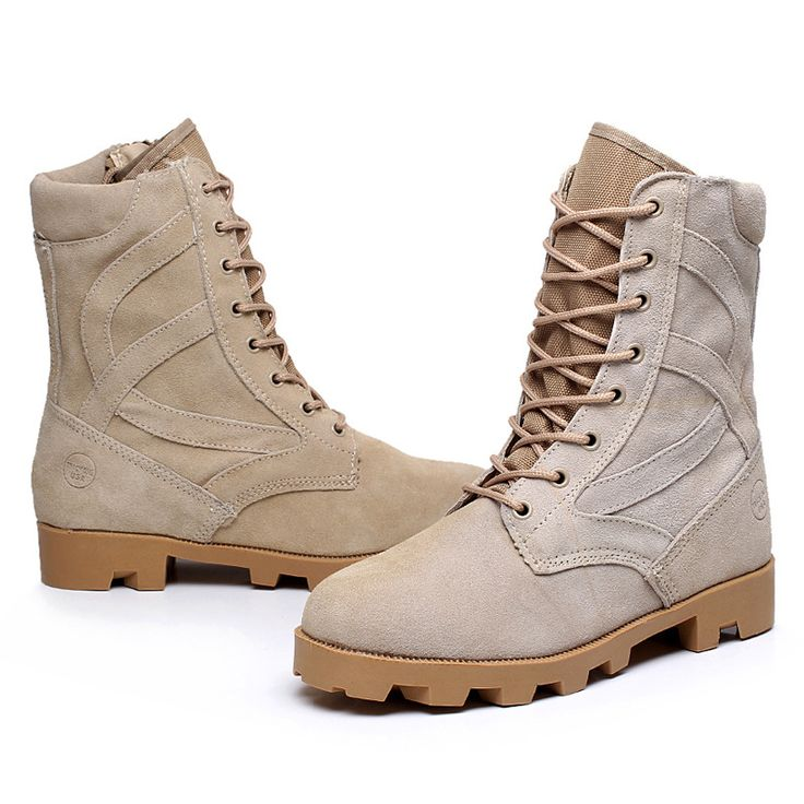 2016 Spring Autumn Combat Military Desert Boots Outdoor Travel Hiking Men Boots Lacing Breathable Work Safety Boots Shoes Sandy