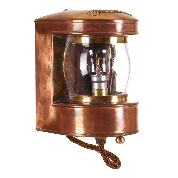 Jim Lawrence Lighting Wall Lights : Copper Masthead Wall Light Small Wall Lights Jim Lawrence Crafty Home Pinterest ...