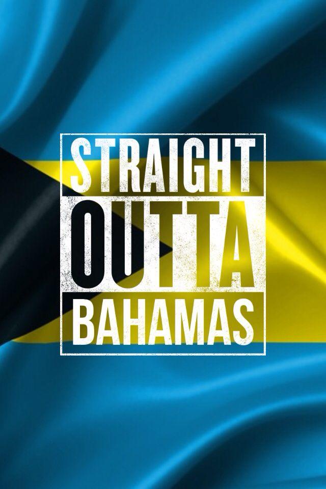The Bahamas Flag w/The Straight Outta meme app