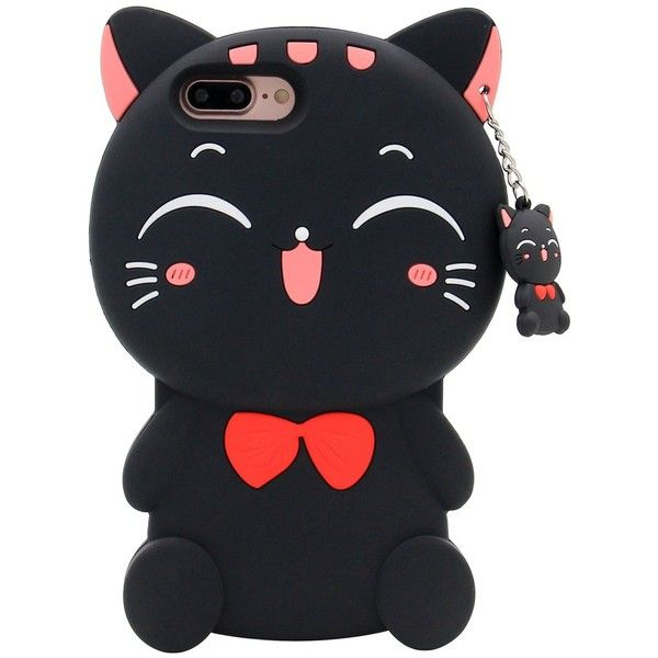 iPhone 7 Plus Case, MC Fashion 3D Lucky Fortune Cat Kitty with Cute... ($9.50) ❤ liked on Polyvore featuring accessories and tech accessories