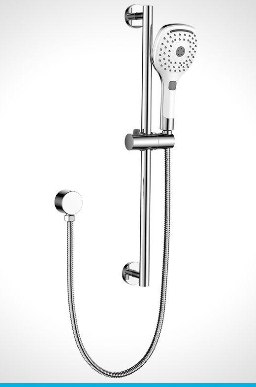 Resonance chrome & white 3 function shower rail