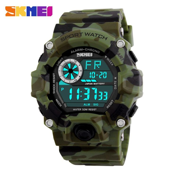 Men Digital Sports Watches S-Shock Watch Men Army Camouflage Military Multifunctional Wristwatches //Price: $22.99 & FREE Shipping //     #hunting #camping #outdoors #pocketdump #knives #knifeporn