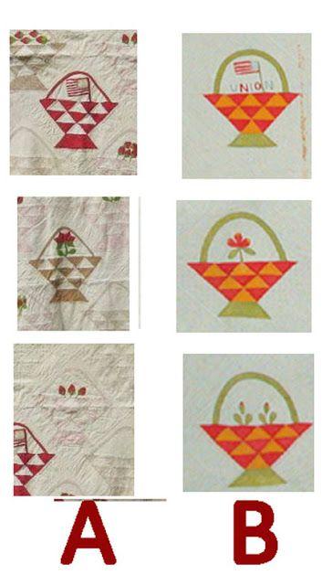 Civil War Quilts: Union Baskets