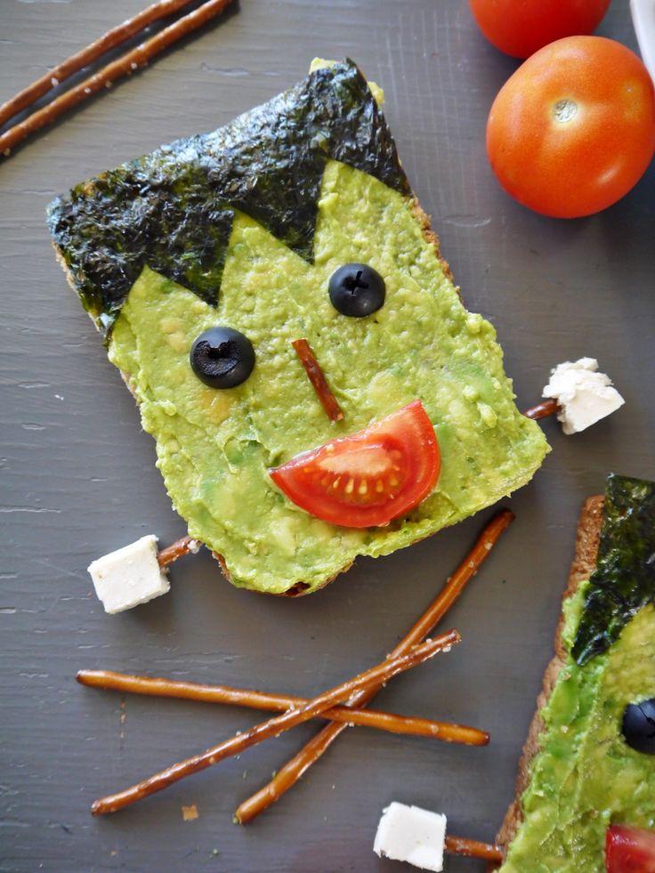 Halloween Food Ideas: Vegan Frankenstein Toast by Vegan Chow Down