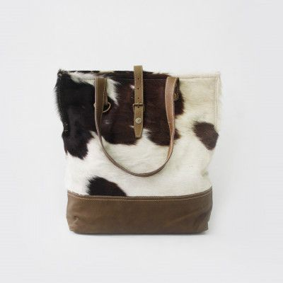 Redcurrent Cowhide Tote Bag with Leather Trim $245.00.