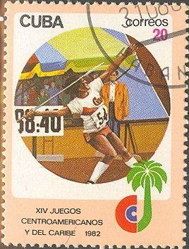 Znaczek: Javelin-throwing (Kuba) (Central American and Caribbean Games) Mi:CU 2678