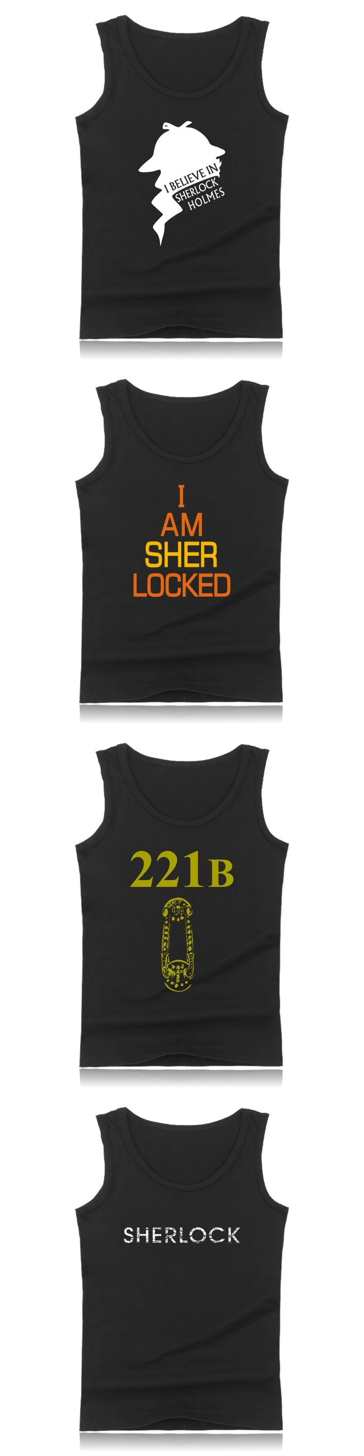 Summer Holmes Costume Casual Cotton Plus Size Muscle Tank Tops For Men And I Am Sherlock Mens Hot Sale Bodybuilding Tank Tops