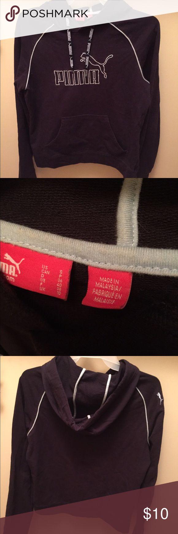 Puma sweatshirt Gently worn Puma sweatshirt. It's definitely a small. Puma Tops Sweatshirts & Hoodies