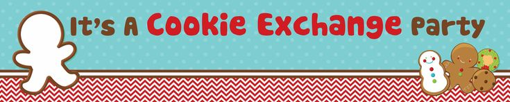 Cookie Exchange - Personalized Christmas Banners. Need something to decorate the wall? Looking for a table runner? This personalized banner is exactly what you need to complete your cookie exchange party. They measure 5 feet long by 1 foot wide. #shopcnf #cookieexchangeparty