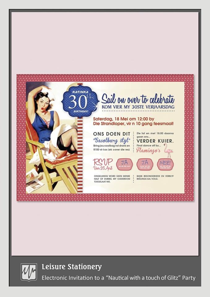 Electronic Invitation {Nautical Party}