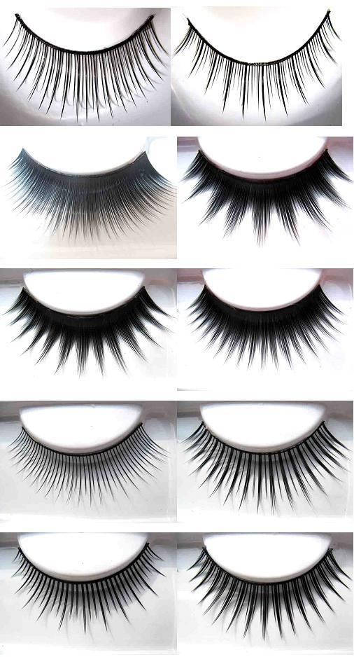 The complete guide for putting on false lashes.