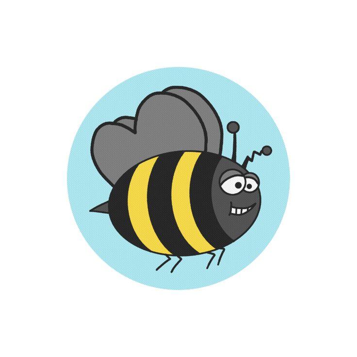 Crazy Bee Round Mousepad