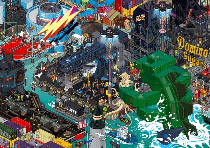Baltimore (see more on http://www.tranchesdunet.com/des-villes-entieres-en-pixel-art/ )