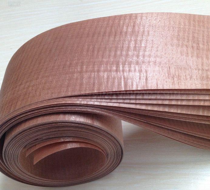 Longitud: 2.5 Metros/Roll Espesor: 0.35mm Ancho: 10 cm Marrón Película Tecnología Manual de Chapa De Madera Borde de Madera de Muebles de cuero