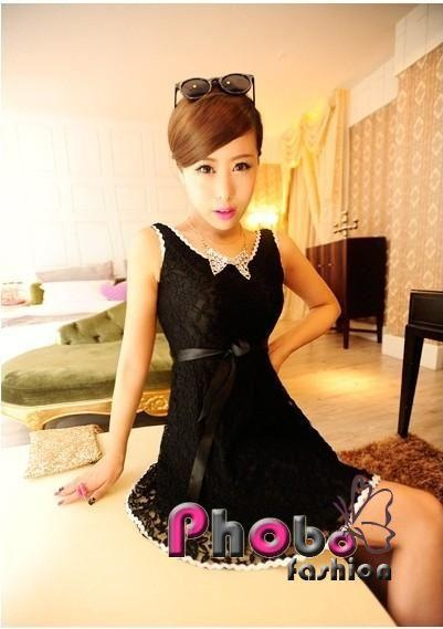 Phobo Fashion Schwarz Full Spitze Deep V-Back koreanische Mode Kleid  Bestell-Nr.asf2735  Herst.Nr: #4021    If you like this Product, please feel free to repin. We will offer 10% discount for every product you repin. we deliver worldwide only 4,90€ shipping cost, any questions? just write on comments 25,90€