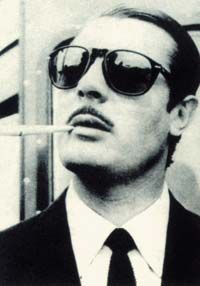 Persol Sunglasses. First made cool by Marcello Mastroianni, then later by Steve McQueen.