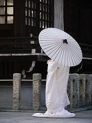 the bride standing, tokyo japan