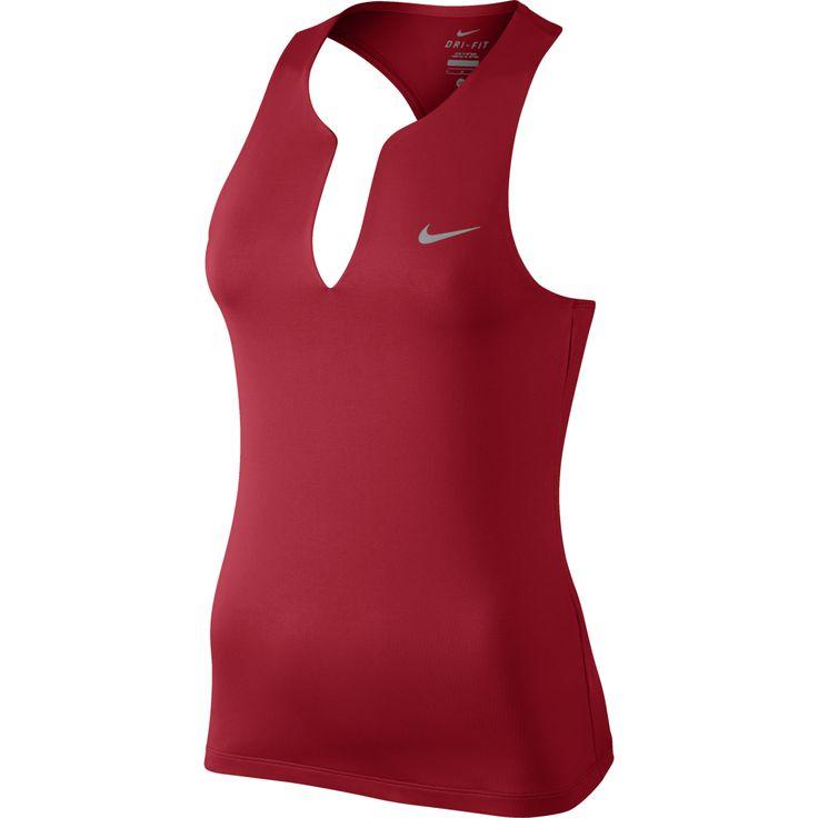 Nike Pure Women's Tennis Tank University Red/Matte Silver