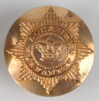 Loughry Infantry (Tyrone) gilt officer's coatee button
