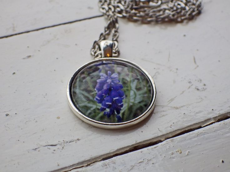 Flowers of Ireland Necklace -- Bluebells by studioCworkshop on Etsy