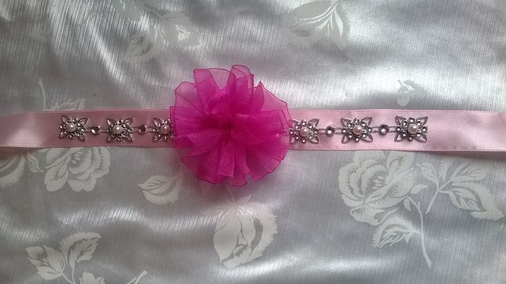 Pink headband for a girly