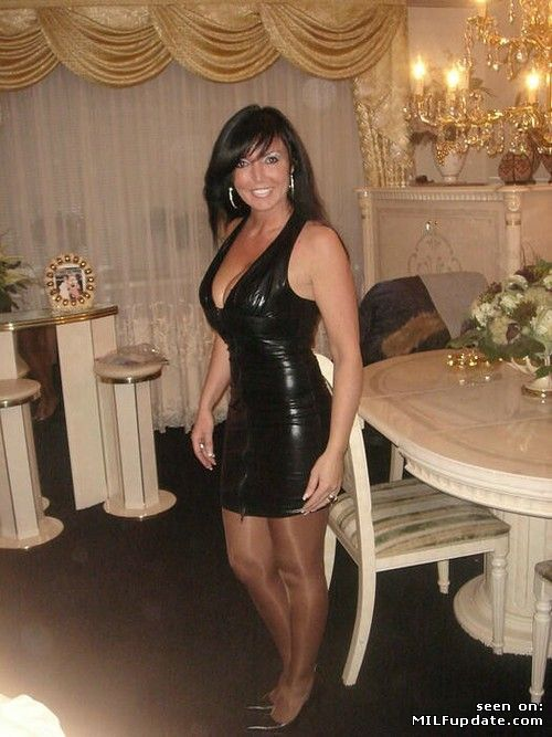 Slutty MILF in latex dress getting ready for new years celebration ...: https://www.pinterest.com/pin/407716572494919242/