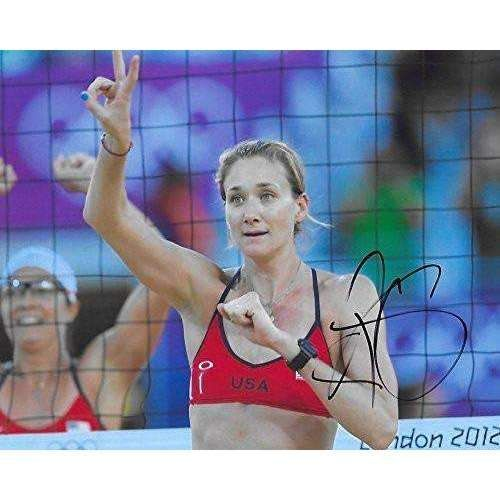 Kerri Walsh Jennings, USA Olympic, Volleyball Player, Signed, Autographed, 8x10 Photo, a COA with the Proof Photo of Kerri Signing Will Be Included,..