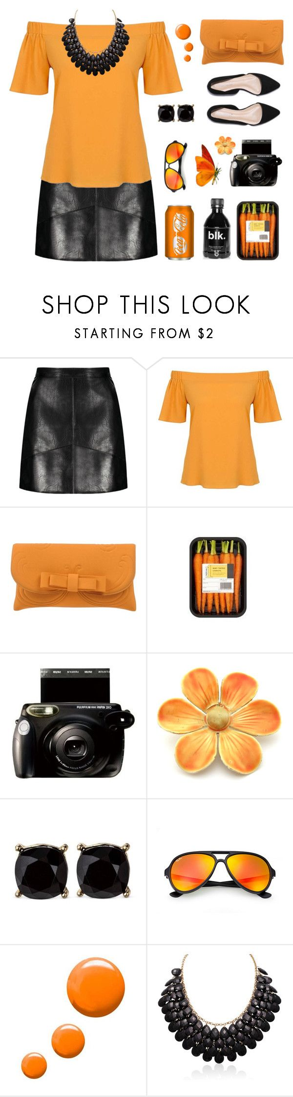 """Untitled #1976"" by tinkertot ❤ liked on Polyvore featuring Dorothy Perkins, La Fille Des Fleurs, Ray-Ban, Topshop and Adoriana"