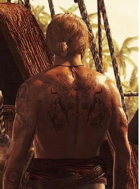 captain edward kenway 39 s tattoos assassin 39 s creed iv black flag assassin 39 s creed pinterest. Black Bedroom Furniture Sets. Home Design Ideas