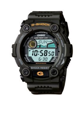 Men's Men's G-Shock Tide-Graphic Dark Green Digital Watch