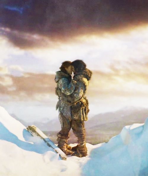 Fan Art of Jon Snow & Ygritte for fans of Game of Thrones. …I'm your woman now, Jon Snow. You're going to be loyal to your woman. […] It's you and me that matters to me and you.