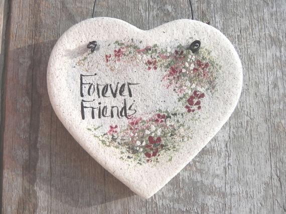Friends Gift Salt Dough Heart Ornament Valentine's Day Gift