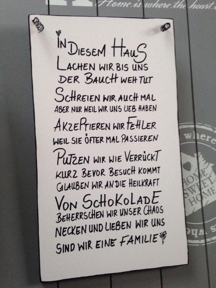 HAUS Wandschild Deko Shabby Vintage Tafel Türschild in Möbel & Wohnen, Dekoratio …   – Lebensweisheiten