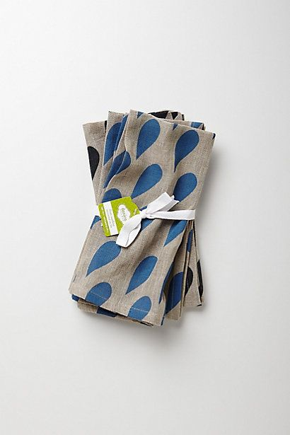 Attempt to make with block stamp Raindrop Napkin Bundle #anthropologie