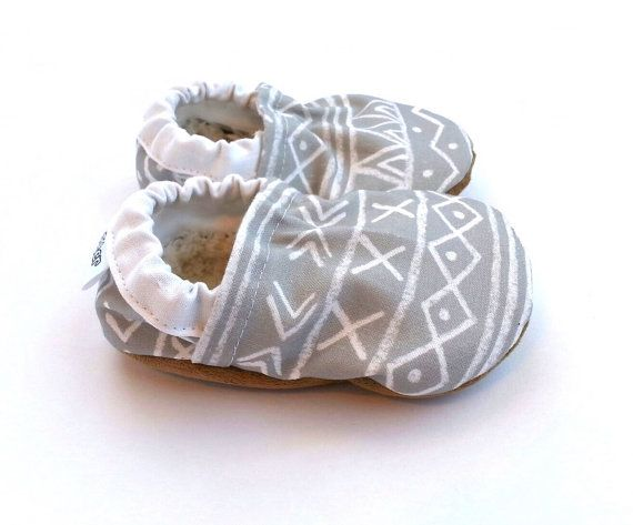 gray aztec shoes baby shoes tribal baby shoes by ScooterBooties