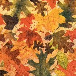 Ideal Home Range 20 Count Decorative Paper Napkins, Luncheon Autumn Leaves