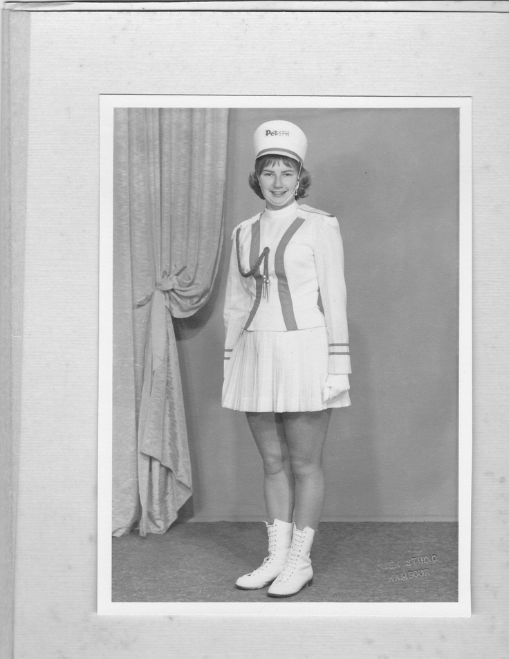 Another blast from the past, from a time when my Mum was a marching girl!  And a good one - here she is at 18, a member of the Peters team, Queensland State Champions in 1960.