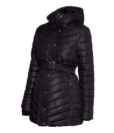 Black Maternity Winter Coat | H&M US $59.95-- I think I found my maternity winter coat!