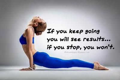If you keep going, you will see results quotes